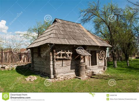 Small Wooden Traditional House Romanian Village Old Plans Design Ideas Plan