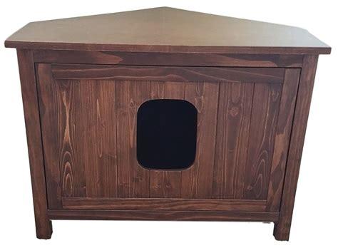 litter box cabinet odor free corner cat litter box cabinet cat