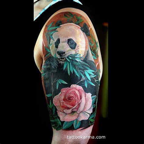 panda tattoo arm panda arm tattoo best tattoo ideas designs
