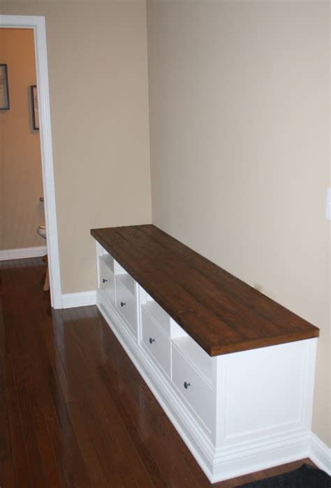 built in bench mudroom making mudroom storage from an ikea hack