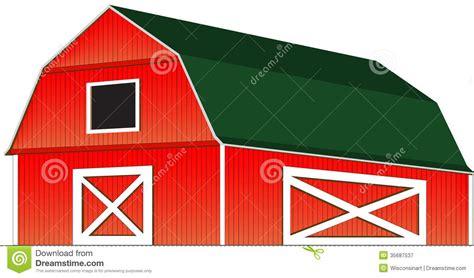 Scheune Clipart by Rote Bauernhof Scheunen Vektor Illustration Lokalisiert