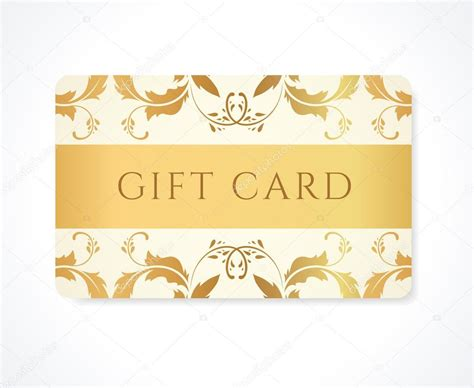 Gift Cards Business - gift card gift coupon discount card business card with gold floral scroll swirl