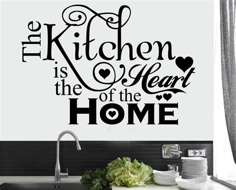 kitchen heart home quote wall stickers art dining room removable decals diy ebay