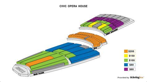 civic opera house seating chicago civic opera house seating chart