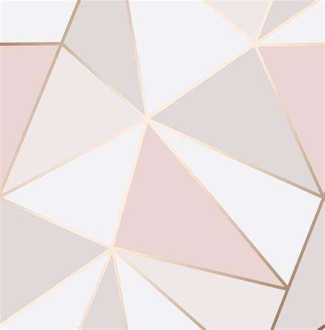 Fine Decor Wallpaper   Apex Geometric Rose Gold   FD41993