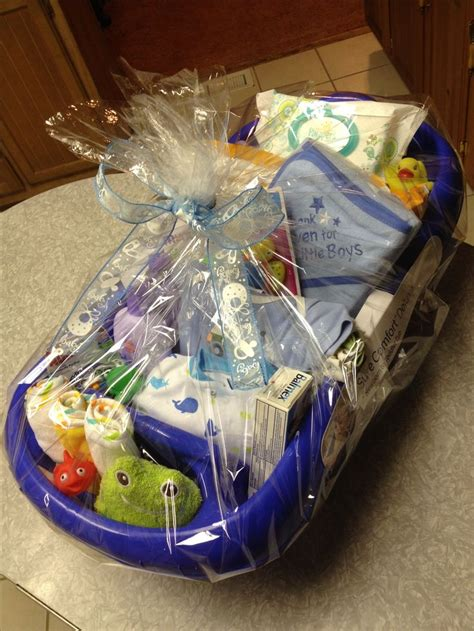 Gift Baskets For Baby Shower by Baby Boy Bathtub Gift Basket Baby Shower Ideas