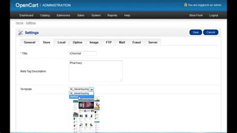 opencart change template opencart how to change default template or select new