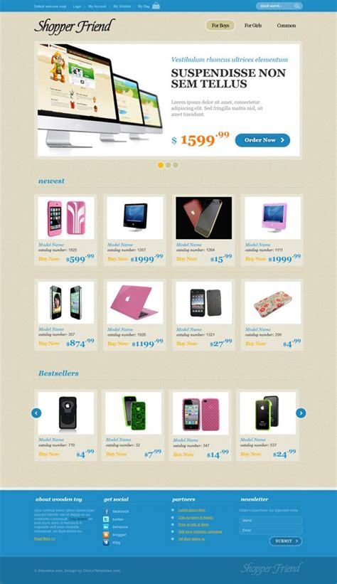 Ecommerce Website Css Template With Jquery Slider Jquery Shopping Cart Templates
