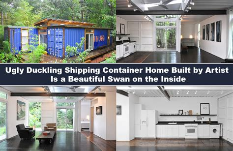 Shipping Container Cabin Floor Plans ugly duckling shipping container home built by artist is a