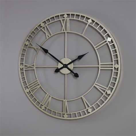 vintage skeleton wall clock oversized clocks large wall mounted gold iron skeleton wall clock roman