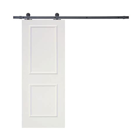 2 Panel Sliding Closet Doors Calhome Top Mount Sliding Door Track Hardware And White Primed Mdf Raised 2 Panel Interior Door