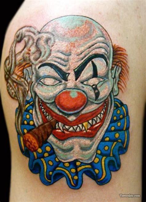 gangster clown tattoos gangsta images designs