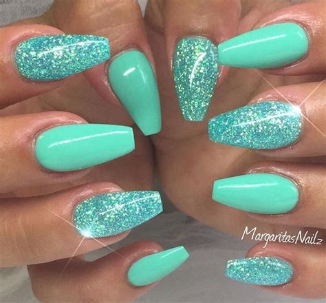 aqua acrylic nails the 25 best turquoise nail designs ideas on