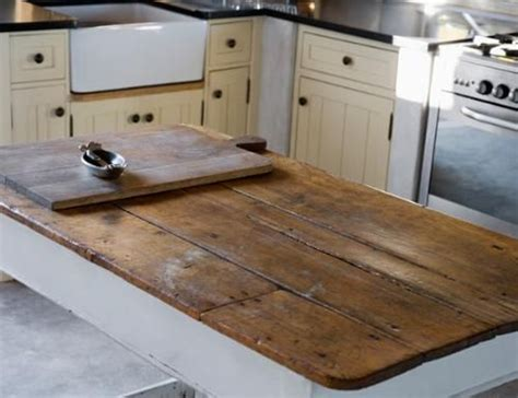 wood tops for kitchen islands reclaimed and rustic make your kitchen stand out by