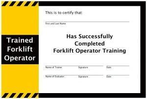forklift certification wallet card template forklift certification wallet card template pictures to