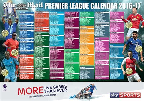 epl daily mail follow the 2016 17 premier league season with our superb