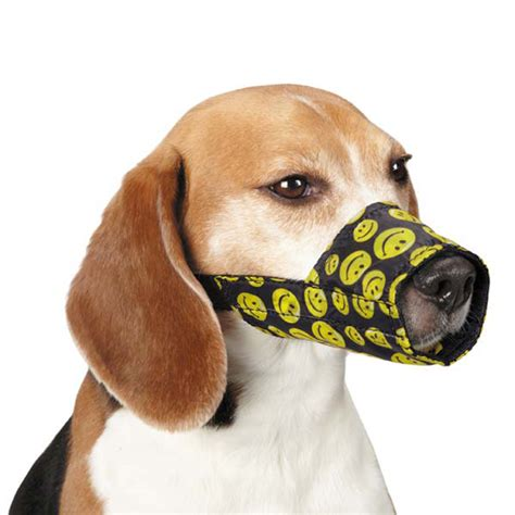puppy muzzle guardian gear lined printed muzzle smile baxterboo