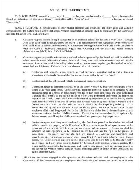 52 Contract Agreement Templates Sle Templates Auto Transport Contract Template