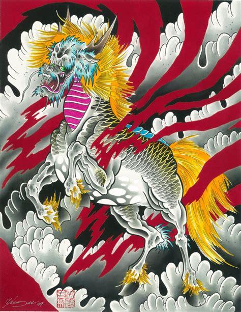 japanese tattoo kirin crystal morey the japanese kirin tattoo artist magazine