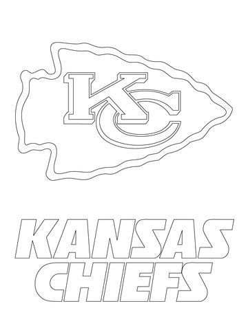super coloring pages nfl kansas city chiefs logo coloring page free printable