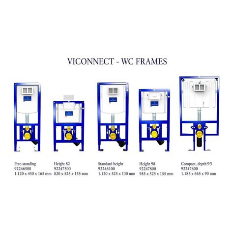 villeroy and boch toilet frame villeroy boch viconnect wc frames bathrooms direct