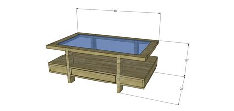 Glass Top Coffee Table Plans Coffee Table Plans Glass Top Drawers
