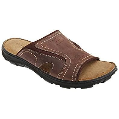 roamers mens leather mule sandals shoes