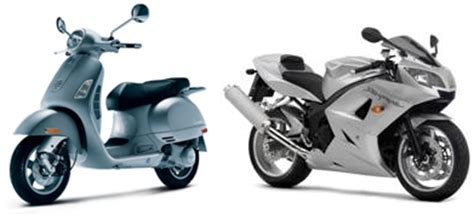 motorcycles, mopeds and scooters defined