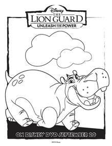 The Lion Guard Coloring Pages Printable sketch template