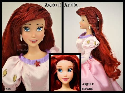 porcelain doll repaint ooak repainted ariel doll by verirrtesirrlicht on deviantart