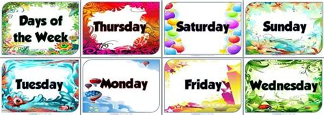 Of The Week Poster Template by Beautiful Days Of The Week Posters For Your Classroom