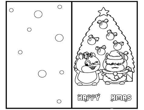 Coloring Pages For Christmas Cards | christmas cards for kids to color coloring home