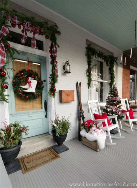 christmas porch decorations 20 beautiful christmas porch ideas diy christmas decorating