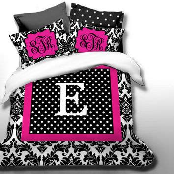 custom chevron monogrammed duvet bedding set personalized