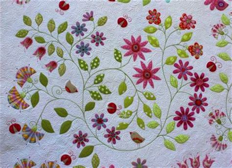 Applique Flower Quilt Patterns by Flannel Fabric Shop