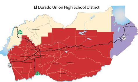 El Dorado County Office Of Education by School District Boundaries El Dorado County Office Of