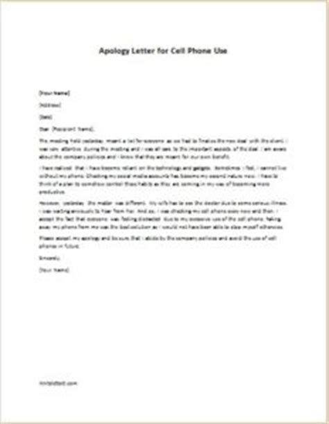 Apology Letter To For Bringing Mobile Apology Letter For Cell Phone Use Writeletter2