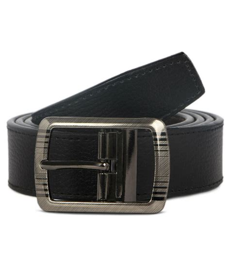 shock black leather belt buy at low price in india
