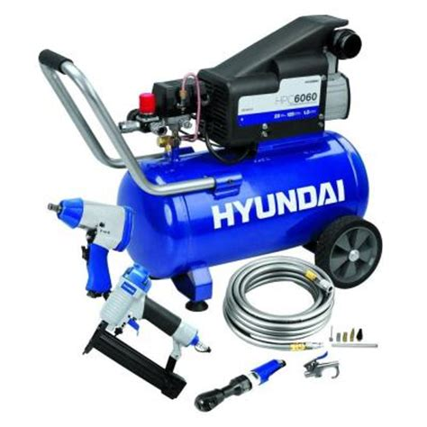 hyundai 6 gal air compressor kit hpc6060 the home depot
