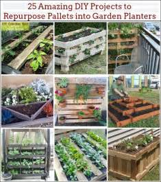 25 amazing diy projects to repurpose pallets into garden