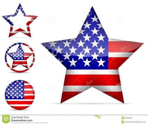 American Ster america icon royalty free stock images image 20385029