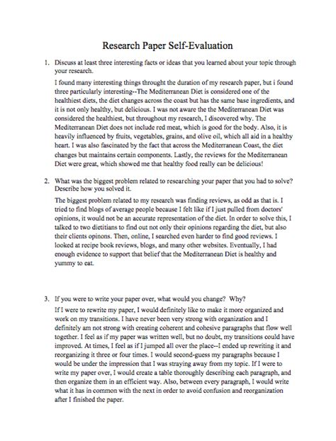 food research paper research paper self evaluation italian food the
