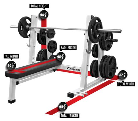 olympic bench press dimensions pro series olympic flat bench legend fitness