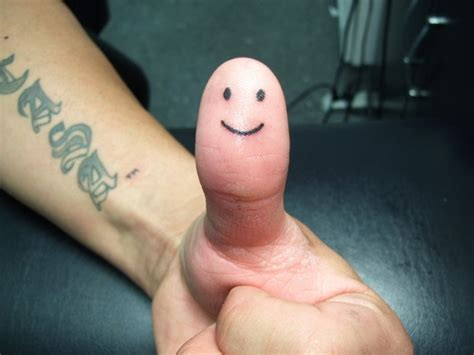 thumb smiley face tattoo picture at checkoutmyink com