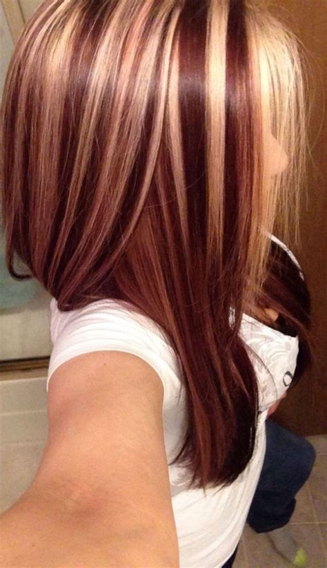 mahogany red hair with high lights auburn highlights and lowlights dark brown hairs