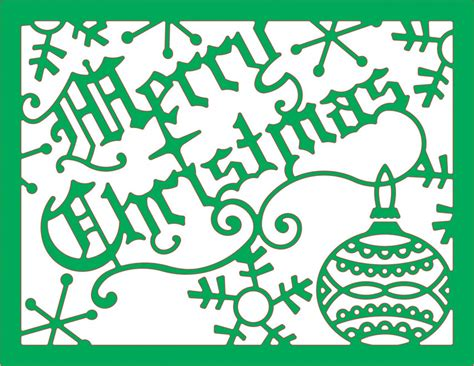 cheery lynn designs die merry christmas card