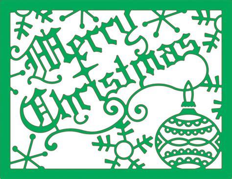 cheery lynn designs die merry christmas card