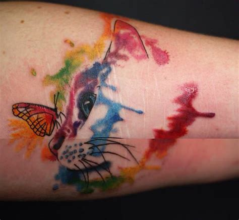 cat tattoo with butterfly 95 gorgeous butterfly tattoos the beauty and the significance