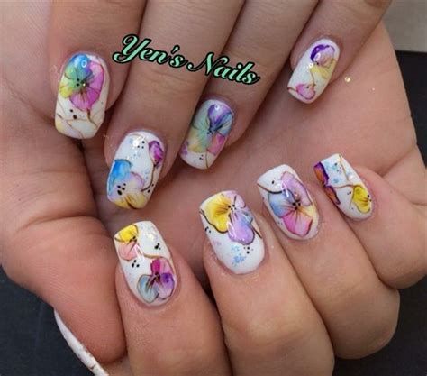 Nails Blumen by 55 Most Beautiful Flowers Nail Design Ideas