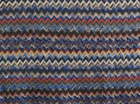 Missoni Upholstery Fabric by Missoni Blue Blend Wool Sold Designer Fabrics Australia